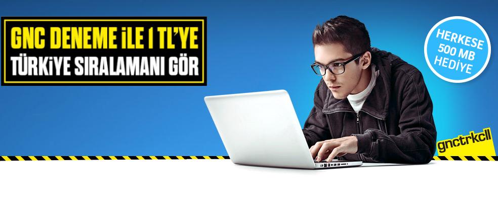 YGS Deneme Sinavini bilgisayarindan coz.Hemen GNCDENEME yaz  2222'ye gonder.